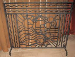 iron art deco fireplace screen sold items ironwork art deco collection
