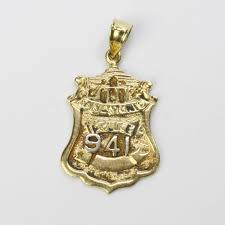 14kt gold 2 06g san antonio police badge pendant property room