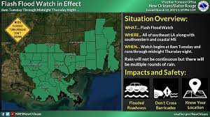 Flash flood watch up for Southeastern ...