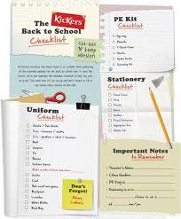 School Checklist The Kickers Back To School Checklist Blog