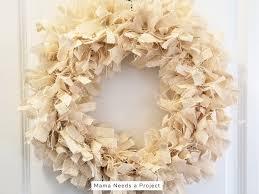 diy burlap rag wreath tutorial completed farmhouse style burlap rag wreath