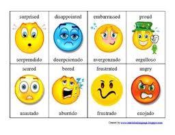 Spanish Feelings Chart 6th Grade Exploratory Spanish