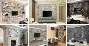 beautiful 3d interior brick stone