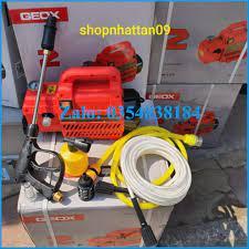 Máy rửa xe gia đình cao áp geox chính hãng - máy rửa xe mini áp lực cao dây  đồng 100% 2000W