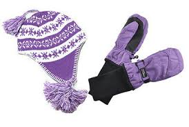 Snowstoppers Kids Sherpa Hats And Mittens Sets Ebay