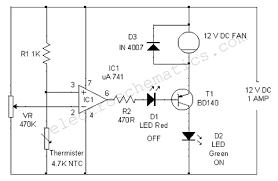 temperature controlled dc fan circuit