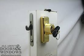 sliding glass door lock replacing a sheared tailpiece receiver in an sliding patio door sliding glass