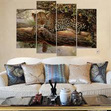 Leopard Print Living Room Decor Online Get Cheap Leopard Paintings Aliexpresscom Alibaba Group