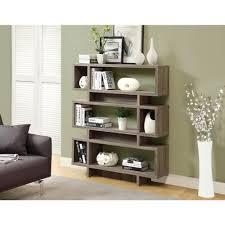 monarch specialties bookcase. Simple Monarch Monarch Specialties Dark Taupe Open Bookcase For T