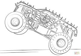 Coloring Pages Remarkable Free Monster Truck Coloring Pages To