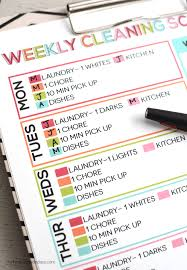 Weekly Household Chore List The Best Free Printable Cleaning Checklists Sarah Titus