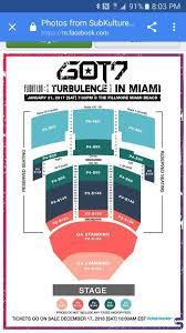 The Fillmore Seating Chart Miami Got7 Miami Seating Chart K Pop Amino
