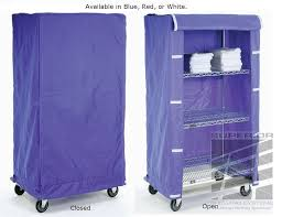 cloth shelf cart covers in blue red or white