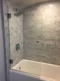 glass shower enclosures 48 inch shower door trackless shower doors