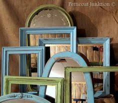 diy painted mirror frame. DIY, Painted Mirrors And Picture Frames, Petticoat Junktion Diy Mirror Frame