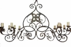 massive antique french iron chandelier for