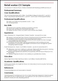 Retail Worker Resume 74 Images Retail Sales Resume Occupational