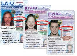 Card And Driver's Idaho Id Information License