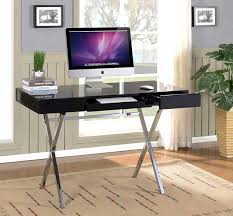 modern home office desk. Don\u0027t Be Fooled By Those Skinny Legs \u2013 This Desk Is As Sturdy A Rock. With White Lacquer Finish On Shiny Chrome Legs, Modern Office Home C