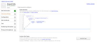 developing alexa skills locally node js submitting an alexa entering the intent schema