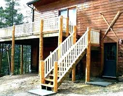 metal steps with landing deck stairs prefab wooden outdoor wood concrete for back ste