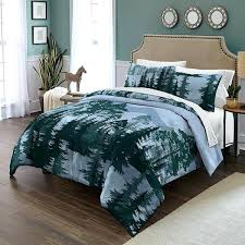 forest green bedding dark blue black tree themed comforter king set outback silhouette trees outdoor quilt forest green bedding