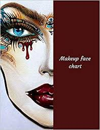 makeup face chart a professional blank face chart for makeup artists la belle femme 9781729286845 amazon books