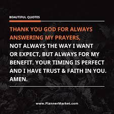 Beautiful As Always Quotes Best of Beautiful Quotes Thank You GOD For Always Answering My Prayers