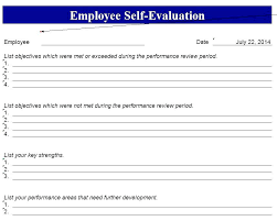 Employee Self Evaluation Form Template Ession Photos Meanwhile ...