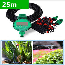 2019 25m diy micro drip irrigation system plant self automatic watering timer garden hose kits with adjustable dripper bh06 from topprettymall