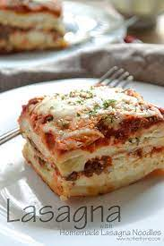 lasagna with homemade lasagna noodles