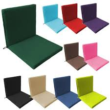 details about back seat outdoor waterproof chair pad cushion garden patio furniture w ties