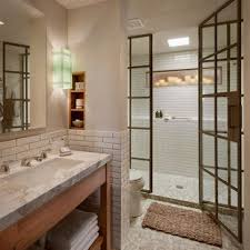 bathroom remodel design. Perfect Bathroom Inspiration For A Large Rustic 34 White Tile And Subway Beige Floor  Alcove Intended Bathroom Remodel Design