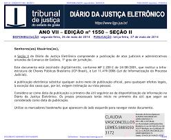 TJ-GO DIÁRIO DA JUSTIÇA ELETRÔNICO - EDIÇÃO 1550