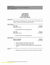 Resume Template On Word Unique Resume Template On Word 100 Best Templates 89