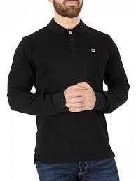 fila vintage polo. fila vintage black bertoni longsleeved polo shirt
