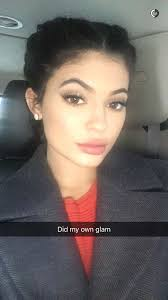 kylie jenner did her own makeup for the hugo boss show doented it on snapchat photos