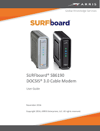 Surfboard Sb6190 Docsis 3 0 Cable Modem Manualzz Com