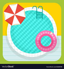 Summer round swimming pool Royalty Free Vector Image