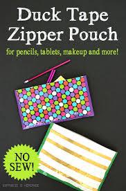 no sew duck tape zipper pouch