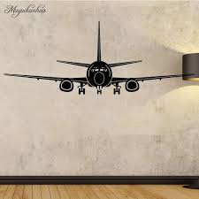 muyuchunhua airplane wall stickers home decor aircraft art wall decals decoration kids room bedroom sticker removable wallpaper vinyl decals wall vinyl