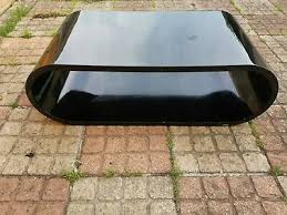dwell ovatus oval coffee table black
