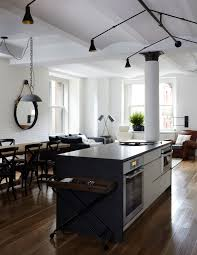 loft lighting ideas. industrial loft lighting ideas kitchen contemporary with round mirror wood floor painted brick