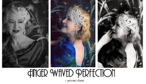 finger waves 1920 1930 hair style created by candice deville melbourne