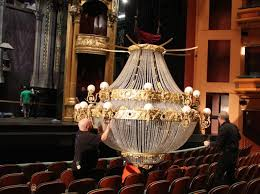 working on the chandelier at phantom of the opera
