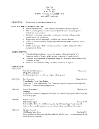 First Resume Example With No Work Experience Resume For Study