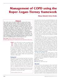 Pdf Management Of Copd Using The Roper Logan Tierney