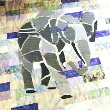 stained glass applique patterns elephant template 1 2 designs