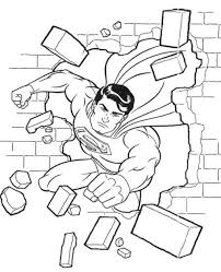 Superman coloring pages for kids. Superman Flying Through Wall Coloring Pages Superhero Coloring Pages Superman Coloring Pages Superhero Coloring