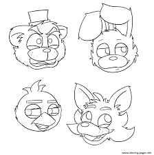 Fnaf Coloring Pages Bonnie Unique Five Nights At Freddys Foxy